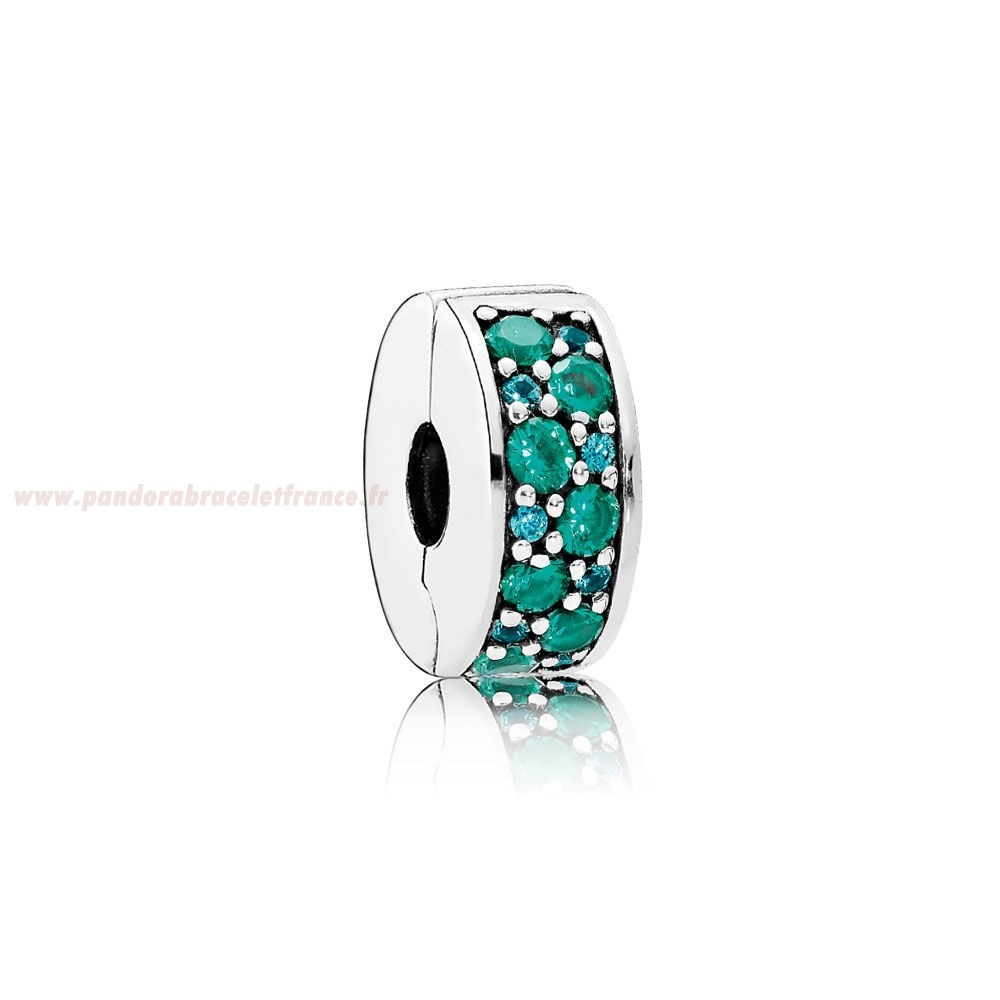 Revendeur Pandora Pandora Charms De Couleur Mosaique Brillant Elegance Clip Multi Coloured Crystals Teal Cz Pas Cher