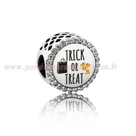 Revendeur Pandora Pandora Vacances Charms Halloween Trick Or Treat Charm Mixed Email Clear Cz Pas Cher